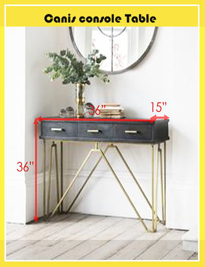 Canis console table