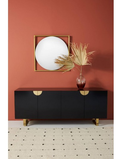 Crater console table
